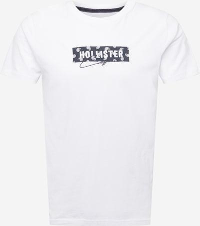HOLLISTER Majica u tamo siva / bijela, Pregled proizvoda