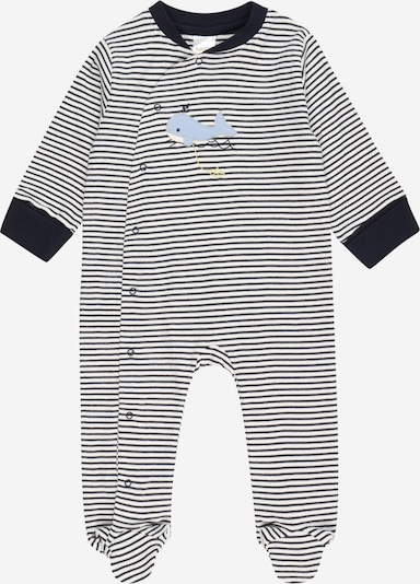 STACCATO Pyjama en bleu clair / bleu foncé / jaune pastel / blanc, Vue avec produit