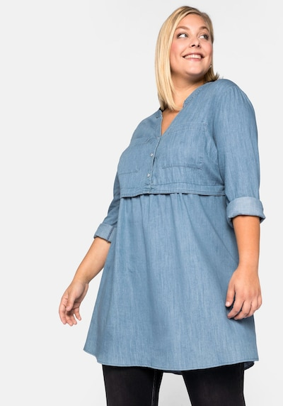 SHEEGO Tunic in Light blue, View model