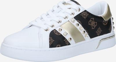 GUESS Sneaker 'RICENA' in gold / schwarz / weiß, Produktansicht