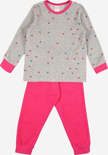 SCHIESSER Schlafanzug in grau / pink, Produktansicht