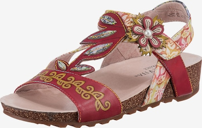 Laura Vita Sandals in Mixed colors / Red, Item view