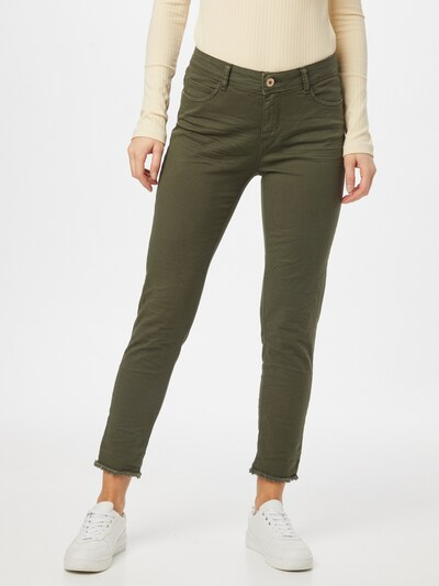 Cartoon Jeans in de kleur Olijfgroen, Modelweergave