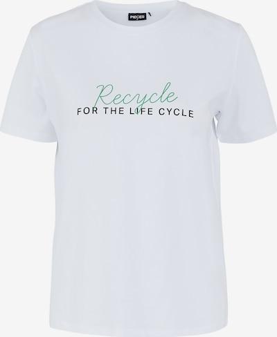 Little Pieces T-Shirt in smaragd / schwarz / weiß, Produktansicht
