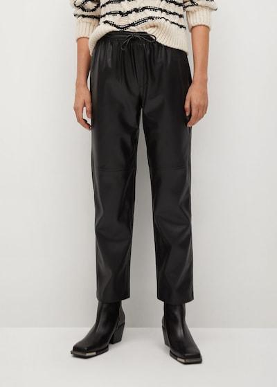 MANGO Hose in schwarz, Modelansicht