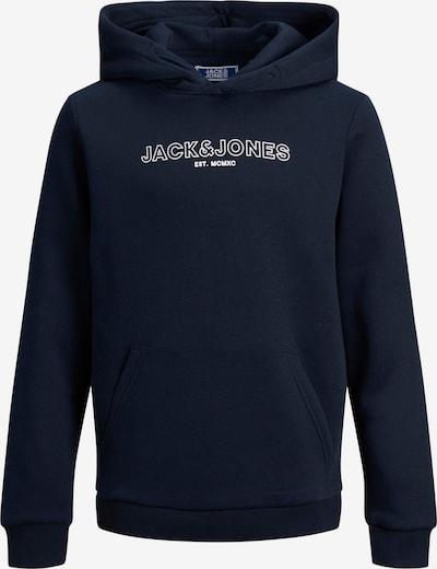 Bluză de molton 'Bank' Jack & Jones Junior pe bleumarin / alb, Vizualizare produs