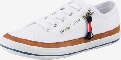 Inselhauptstadt Sneaker in dunkelblau / braun / weiß, Produktansicht