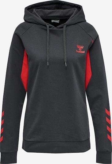 Hummel Sweatshirt in rot / schwarz, Produktansicht