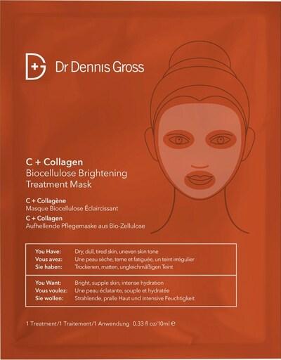 Dr Dennis Gross Tuchmaske 'Bright Mask' in braun, Produktansicht
