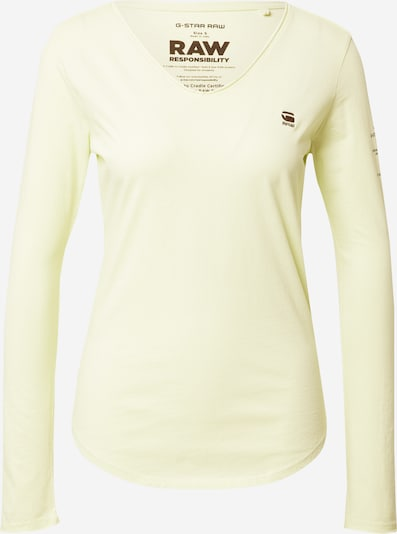 G-Star RAW T-shirt en vert pastel, Vue avec produit