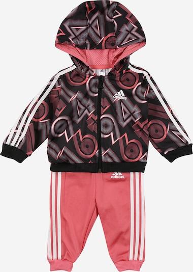 ADIDAS PERFORMANCE Trainingsanzug 'Shiny' in grau / rosa / schwarz / weiß, Produktansicht