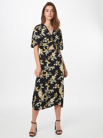 Trendyol Kleid in gelb / grün / schwarz, Modelansicht