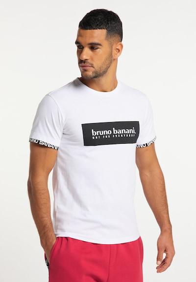 BRUNO BANANI Shirt in de kleur Zwart / Wit: Vooraanzicht