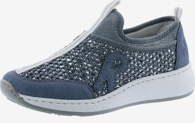 RIEKER Slip-on in de kleur Rookgrijs / Grijs gemêleerd / Zilver, Productweergave