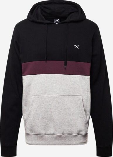 Iriedaily Sweatshirt 'Court 2' in graumeliert / rot / schwarz, Produktansicht
