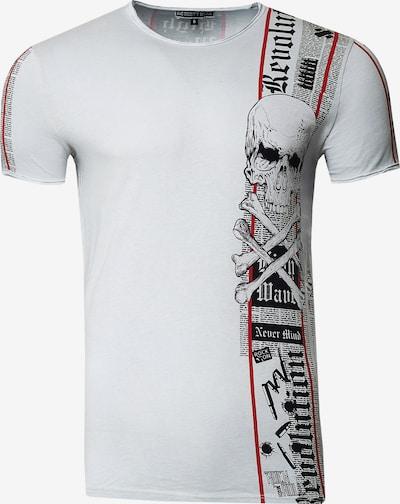 Rusty Neal T-Shirt im verwaschenen Look in grau, Produktansicht