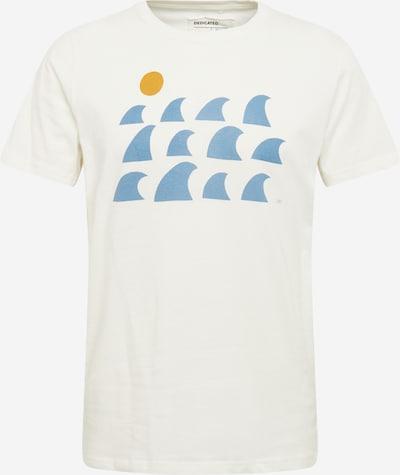 Tricou 'Stockholm Rays and Waves' DEDICATED. pe albastru fumuriu / galben miere / alb murdar, Vizualizare produs