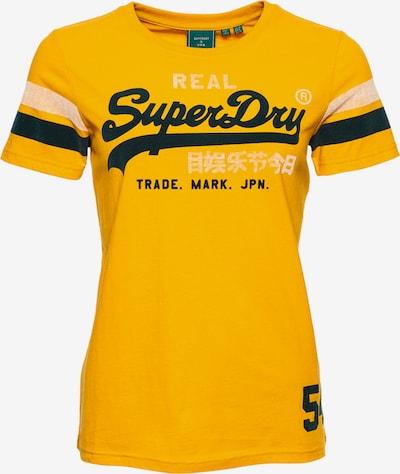 Superdry T-Shirt in gelb / schwarz, Produktansicht