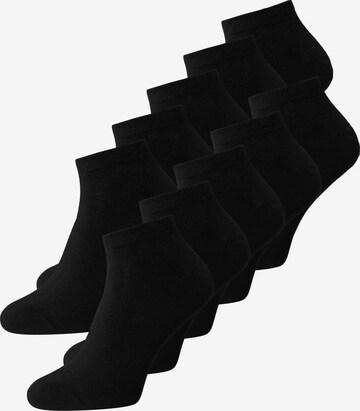melns JACK & JONES Zeķes pēdiņas 'DONGO'
