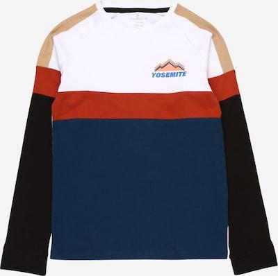 NAME IT Shirt 'OLEX' in hellbeige / petrol / hellrot / schwarz / weiß, Produktansicht