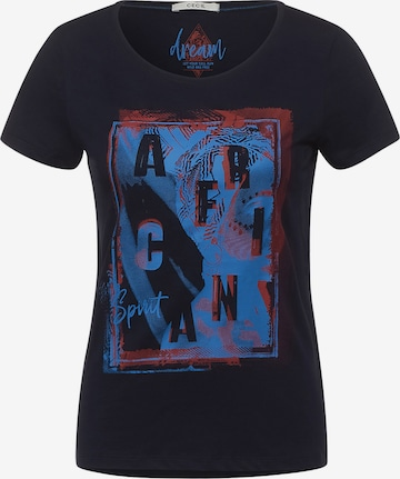 CECIL Tričko - Modrá