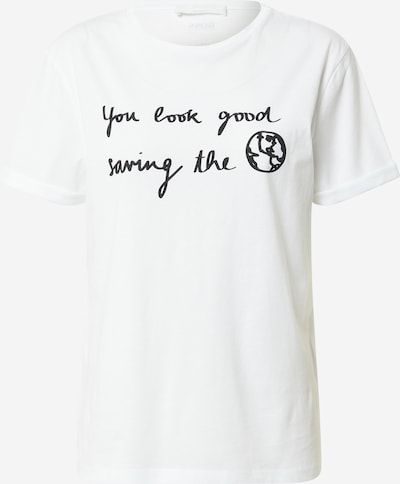 BOSS Majica 'Eresa' | črna / bela barva, Prikaz izdelka