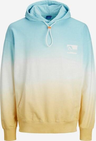 JACK & JONES Sweatshirt in de kleur Lichtblauw / Geel / Wit: Vooraanzicht