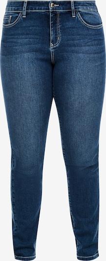 TRIANGLE Slim Fit: Slim leg-Jeans in blau: Frontalansicht