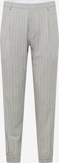 HUGO Pantalon à pince 'Fento' en gris / blanc, Vue avec produit