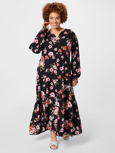 Z-One Kleid 'Estelle' in grün / rosa / rot / schwarz, Modelansicht