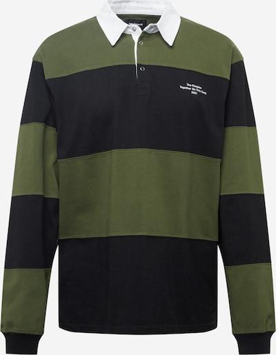 The Kooples Poloshirt in khaki / schwarz / weiß, Produktansicht