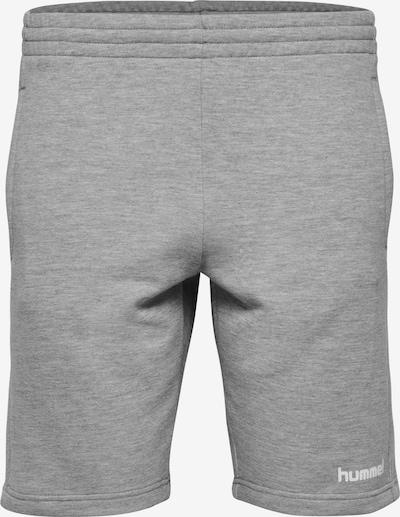 Hummel Bermuda Shorts in graumeliert / weiß: Frontalansicht