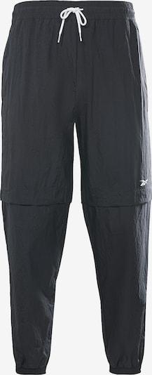 Reebok Sport Pantalon de sport en noir / blanc, Vue avec produit