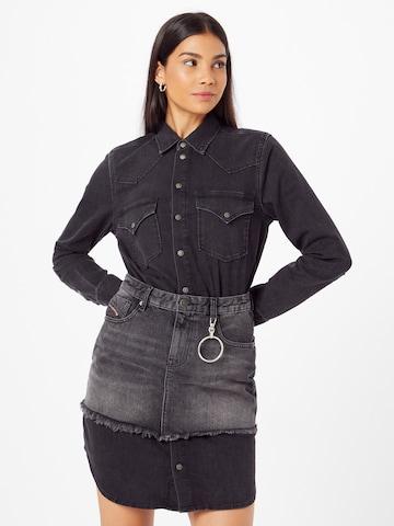 DIESEL Shirt Dress 'DESY' in Black