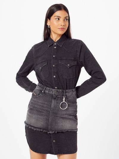 DIESEL Kleid 'DESY' in grey denim / black denim, Modelansicht