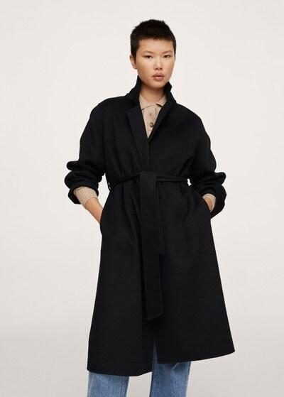 MANGO Mantel 'batin' in schwarz, Modelansicht
