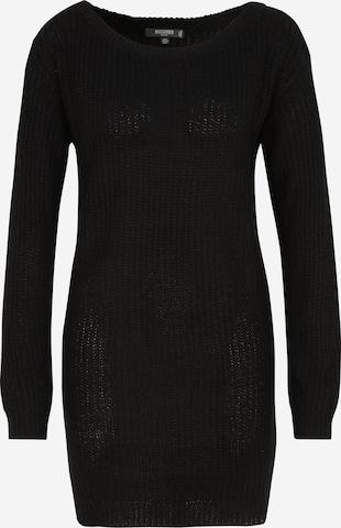 Missguided Petite Knitted dress 'Ayvan' in Black