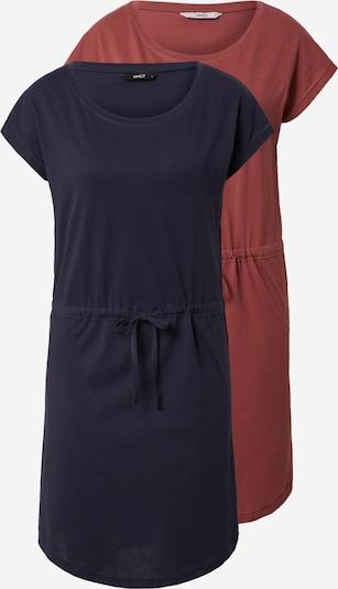 ONLY Robe 'MAY' en bleu foncé / rouge rouille, Vue avec produit