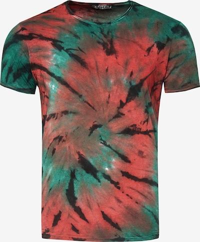 Rusty Neal T-Shirt im zeitlosen Batik-Look in grün, Produktansicht