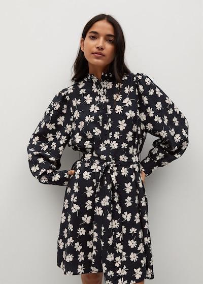 MANGO Kleid 'Noela' in nude / schwarz, Modelansicht