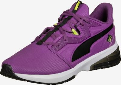 PUMA Chaussure de sport en jaune fluo / violet / noir, Vue avec produit