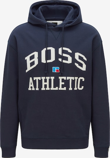 BOSS Casual Sweatshirt 'Safa_RA' in hellblau / dunkelblau / rot / weiß, Produktansicht