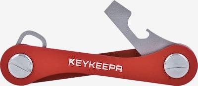 Keykeepa Schlüsselmanager 'Classic' in silbergrau / rot, Produktansicht