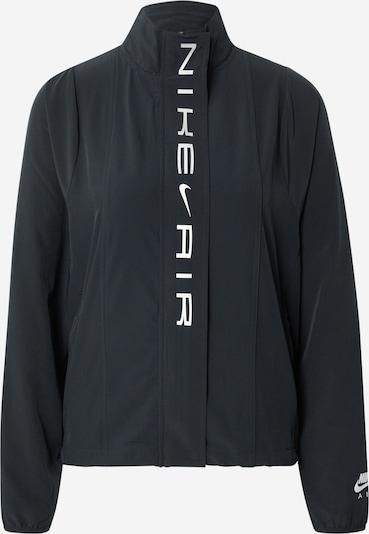 NIKE Sportjas 'Air' in de kleur Grijs / Zwart, Productweergave