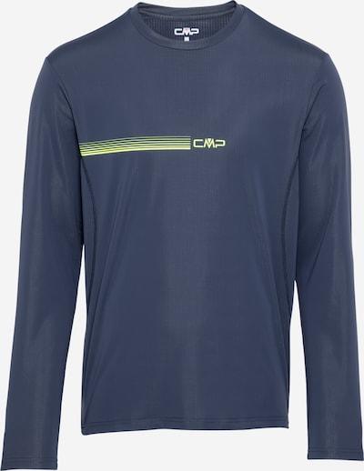CMP T-Shirt fonctionnel en marine / jaune fluo, Vue avec produit
