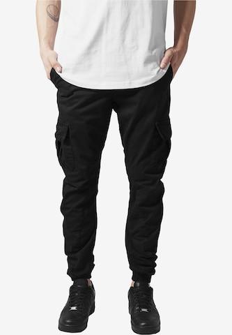 Urban Classics Cargo Pants in Black