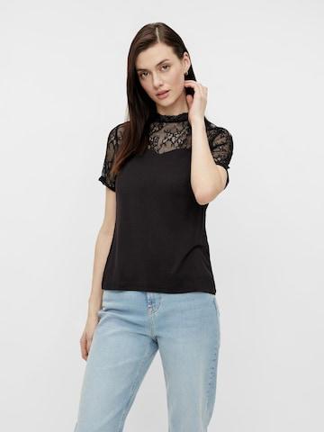 PIECES Bluse 'PINA' i svart