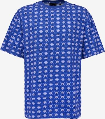 Magdeburg Los Angeles T-Shirt 'PATTERN' in Blau