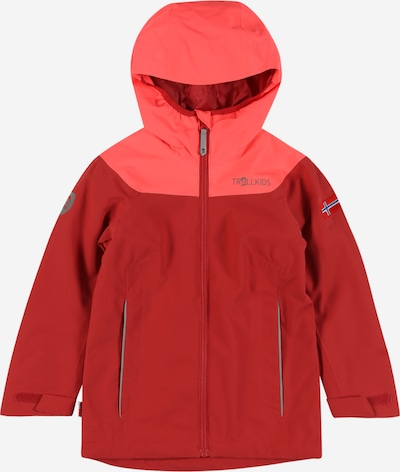 TROLLKIDS Outdoor jacket 'Bergen' in Royal blue / Grey / Red / Grenadine, Item view