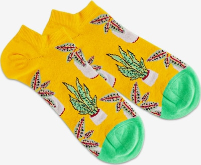 DillySocks Socks 'Pottery' in Beige / Yellow / Green / Red, Item view